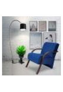 Poltrona Decorativa Azul Marinho Gigante Móveis