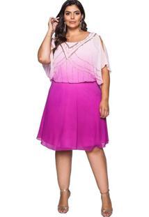 Vestido Almaria Plus Size Pianeta Curto Bordado Ro