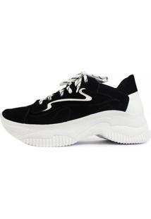 Tênis Damannu Shoes Chunky Joss - Feminino-Preto