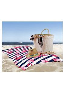 Toalha De Praia / Banho Flamingo Marine Único