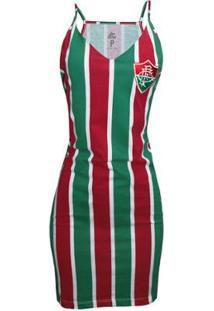 Vestido Liga Retrô Fluminense Listrado - Feminino