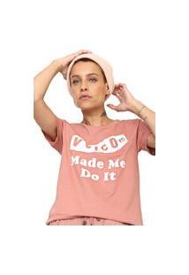 Camiseta Volcom Darting Traffic Rosa
