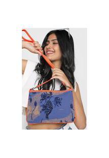 Bolsa Roxy My Guest Azul/Laranja