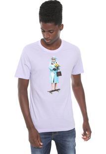 Camiseta Cavalera Skate Queen Lilás