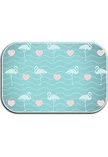 Tapete Love Decor Wevans Flamingos Azul