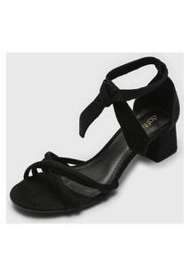 Sandália Dafiti Shoes Amarração Preta