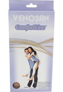 Meia Calça At 20-30 Comfortline Venosan Ponteira Aberta Curta Bege M