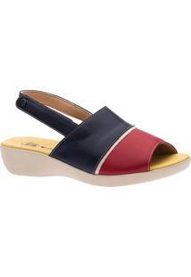 Sandália Anabela Doctor Shoes 113 Marinho
