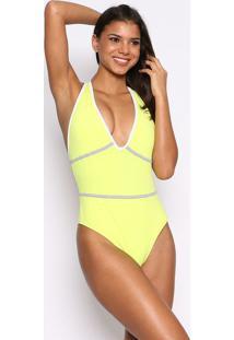 Body Com Vivos Ccm Press®- Amarelo & Brancoccm