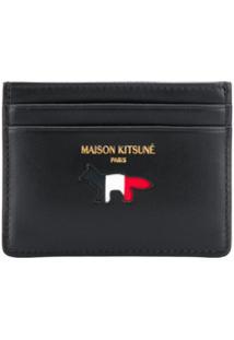 Maison Kitsuné Carteira Com Estampa De Logo - Preto