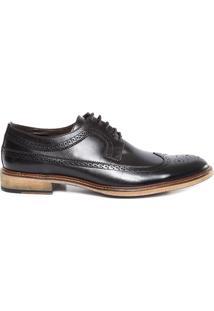 Sapato Clássico Derby Full Brogue - Preto