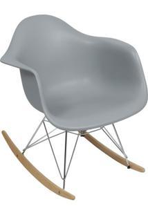 Poltrona Eames Dar- Cinza & Bege- 69X63X44Cm- Oror Design