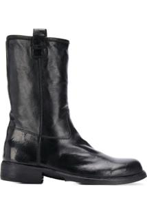 Officine Creative Wrinkled-Effect Ankle Boots - Preto