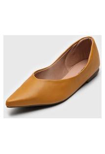 Sapatilha Dafiti Shoes Bico Fino Amarela