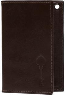 Carteira Porta Cartão Key Design - Wallet Card Case Ii - Brown - Masculino