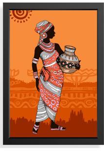 Quadro Love Decor Decorativo Mulher Africana Color