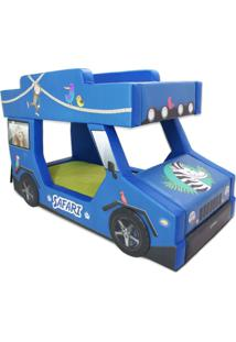 Beliche Safari Cama Carro Azul