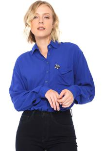 Camisa Malwee Reta Pedraria Azul