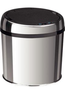 Lixeira Automática 6L De Aço Inox Com Balde Interno Removível, Sensor Acionado Com A Aproximação Das Mãos, 24,6X26,1Cm Easy - Tramontina
