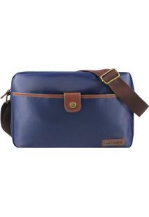 Bolsa Transversal- Azul Marinho & Marrom Escuro- 21Xjacki Design