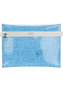 Mm6 Maison Margiela Clutch Transparente - Azul