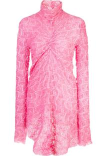 Sies Marjan Willie Lace Ruched Top - Rosa