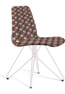 Cadeira De Jantar Eames Butterfly Branco E Cinza