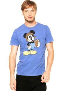 Camiseta Ellus Mickey Azul Cobalto