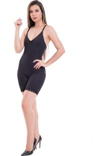 Body Modelador Completo D'Liny Sem Bojo Preto
