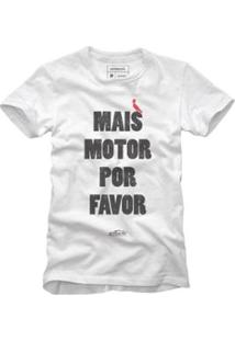 Camiseta Reserva Mais Motor Masculina - Masculino-Branco