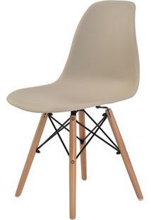 Cadeira Eames Eiffel Polipropileno Nude Base Madeira - 31627 - Sun House