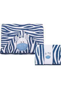 Kit Presente 04 Peças - Toalha De Banho E Panos De Boca - Zebra
