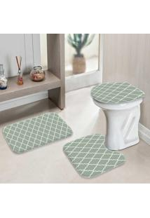 Jogo Tapetes Para Banheiro Old Abstract Cinza