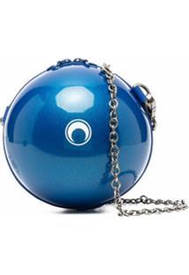 Marine Serre Bolsa Tiracolo Dream Ball Com Alça De Corrente - Azul