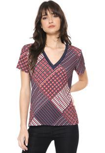 Blusa Iódice Tassia Azul-Marinho/Vermelha