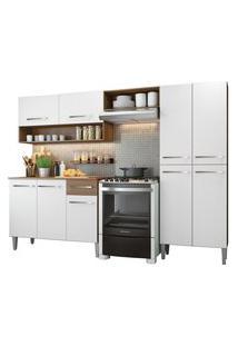 Cozinha Compacta Madesa Emilly Pop Com Armário E Balcáo Branco