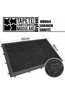 Tapete Sanitizante Modular Dryfeet 60X40Cm Grafite