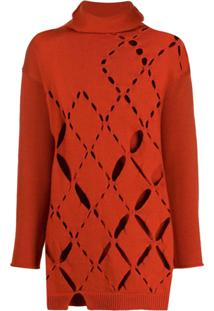 Pierantoniogaspari Cut-Out Knitted Jumper - Laranja