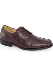 Sapato Social Anatomic Gel Elegance Brown Masculino - Masculino-Marrom Escuro