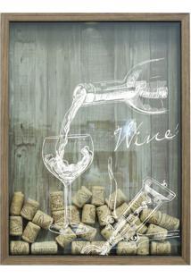 Quadro Porta Rolhas Wine Natural