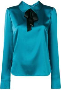 Styland Blusa Com Laço - Azul