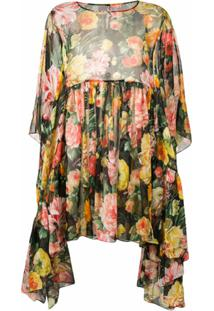 Dolce & Gabbana Vestido Godê Floral - Preto