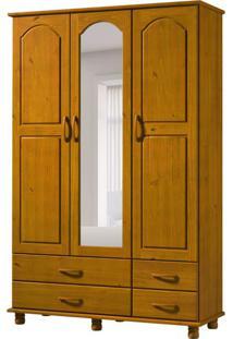 Guarda-Roupa Casal Com Espelho Esmeralda 3Pt 4Gv Teca