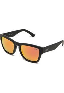 Óculos De Sol Krew Espelhado Preto/Laranja