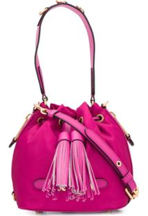 Moschino Logo Plaque Bucket Bag - Rosa