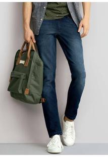 Calça Jeans Masculina Skinny Com Pernas Ajustadas