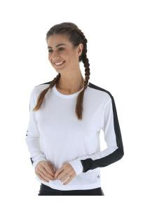 Camiseta Manga Longa Under Armour Favorite Mesh Gr - Feminina - Branco/Preto