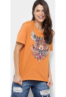 ... Camiseta Colcci Tigre Feminina - Feminino-Marrom 9295d6e007f