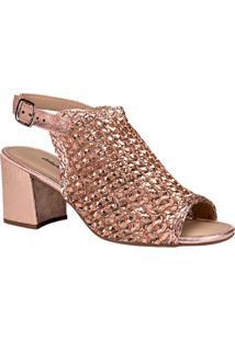 Sandália Feminina Dakota Salto Médio Grosso Bloco Trama Trissê Moda Básico Conforto Comfort Fashion Moda Lançamento Sandália Confortável Atacado Reven