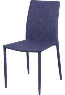 Cadeira De Jantar Glam Jeans Azul Or Design